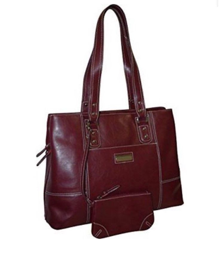 Franklin Covey Womens Red Gusset Briefcase Laptop Business Handbag #FranklinCovey #LaptopCase