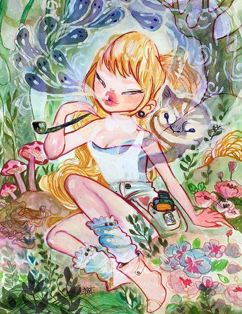 """Tempting Alice"" Alice in Wonderland by Natasha Wescoat"