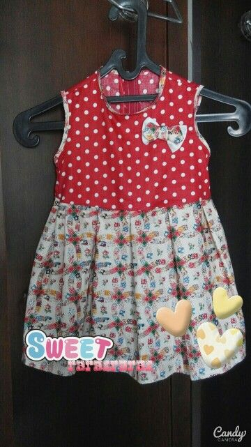 DIY simple dress for my little girl. So easy to make it...but pretty