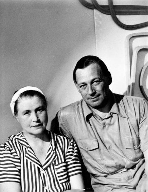 Алвар Аалто со своей женой архитектором Айно Аалто.