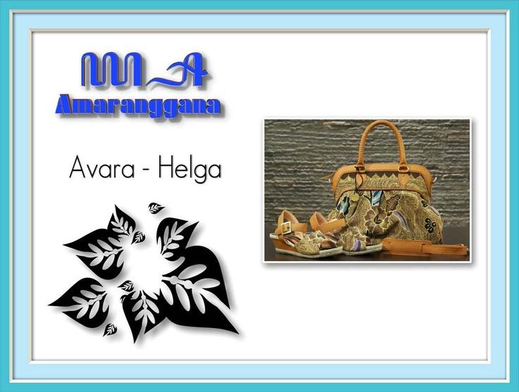 pieces of Avara Bag and Helga Wedges wrapped with Batik Tulis Tegalan ...