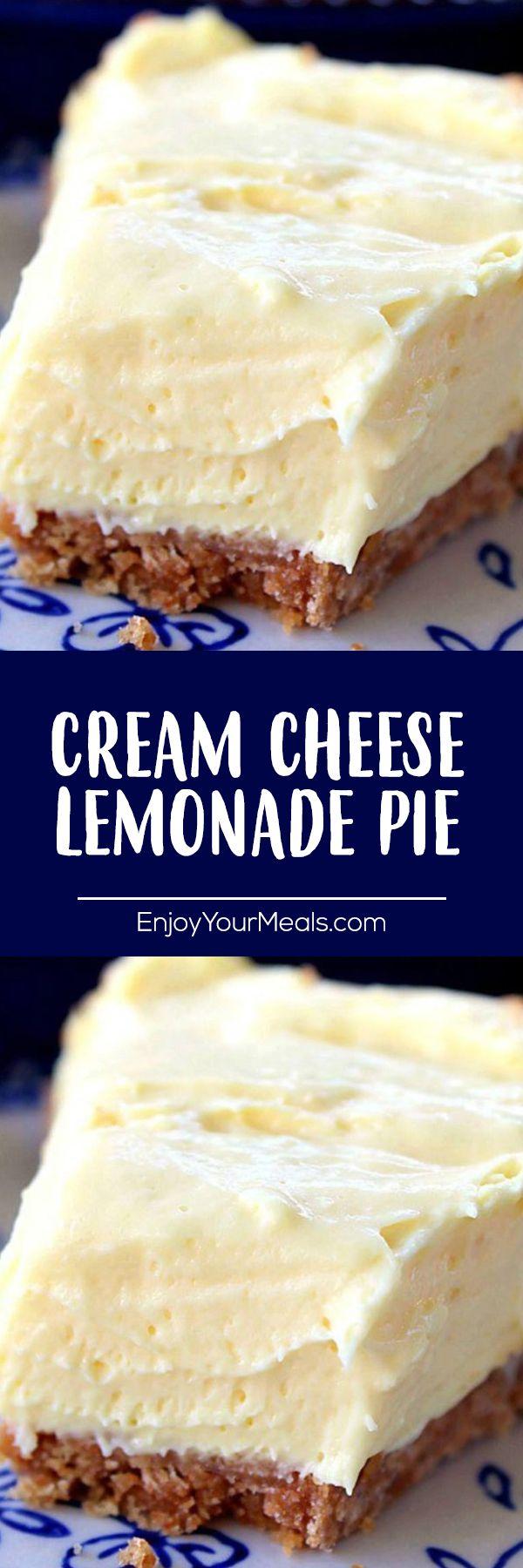 CREAM CHEESE LEMONADE PIE!!!