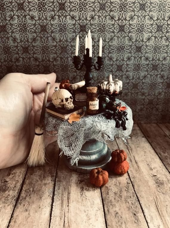 1:12 Scale Dollhouse Miniature Ornaments Halloween Ornaments