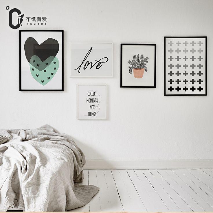Recoger Momentos Nordic Estilo lienzo de pintura de pared cuadros para la sala de arte de La Pared decoración del hogar moderno abstracto Sin Marco