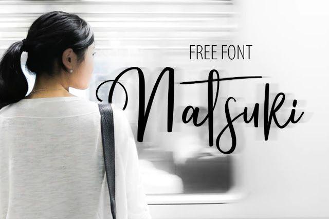 DLOLLEYS HELP: Natsuki Free Font