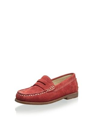 W.A.G. Kid's Loafer with Studded Heel (Rojo)