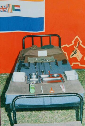 Inspection bed - taken at a military exhibition ( Wingfield } circa 1990.