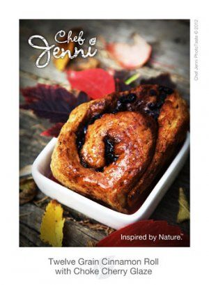 12 Grain Cinnamon Roll with Choke Cherry Glaze | #SaskMade Marketplace