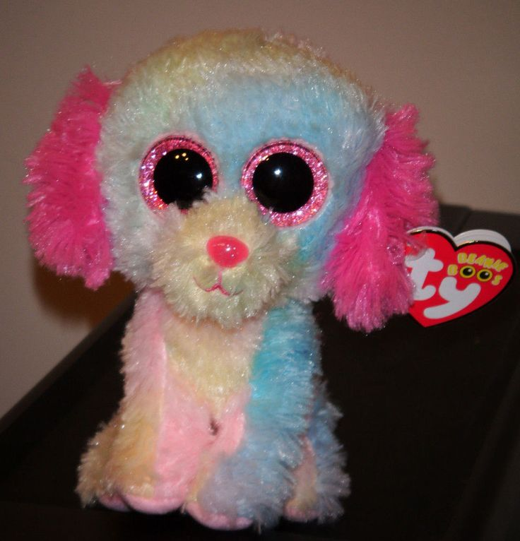 """Ty Beanie Boos Boo's ~ LOVESY 6"""" Pastel Dog ~ 2014 NEW ~ Justice Exclus~ IN HAND #TYBeanieBoos"""