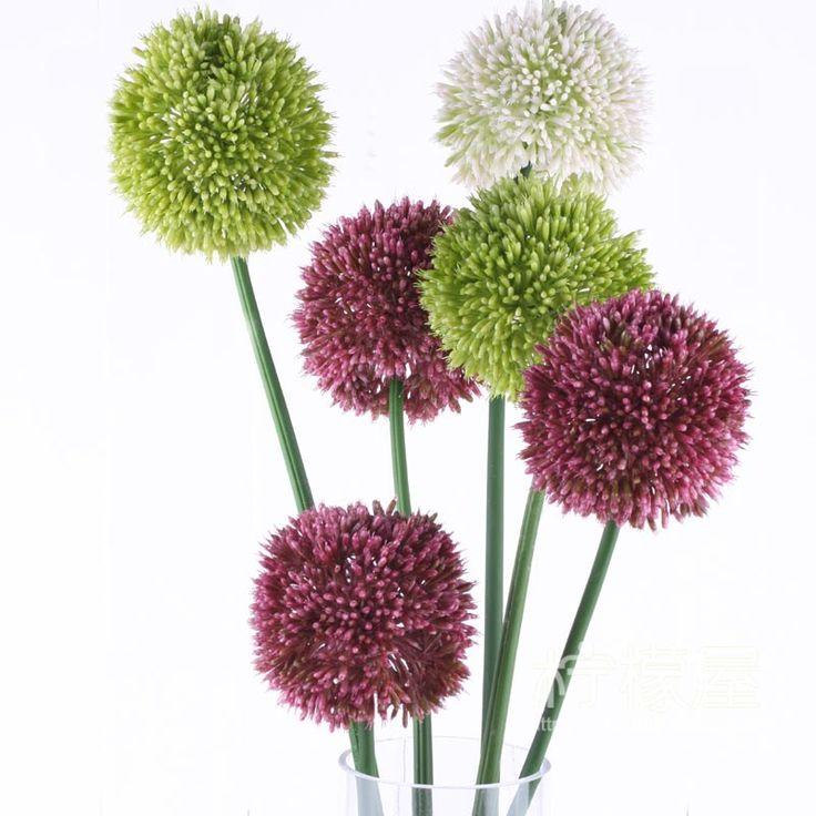 Одуванчик зеленый лук шар моделирования гортензии шелк цветок искусственные цветы цветочные гостиной напольные цветочные свадебные украшения украшения - глобальная станция Taobao