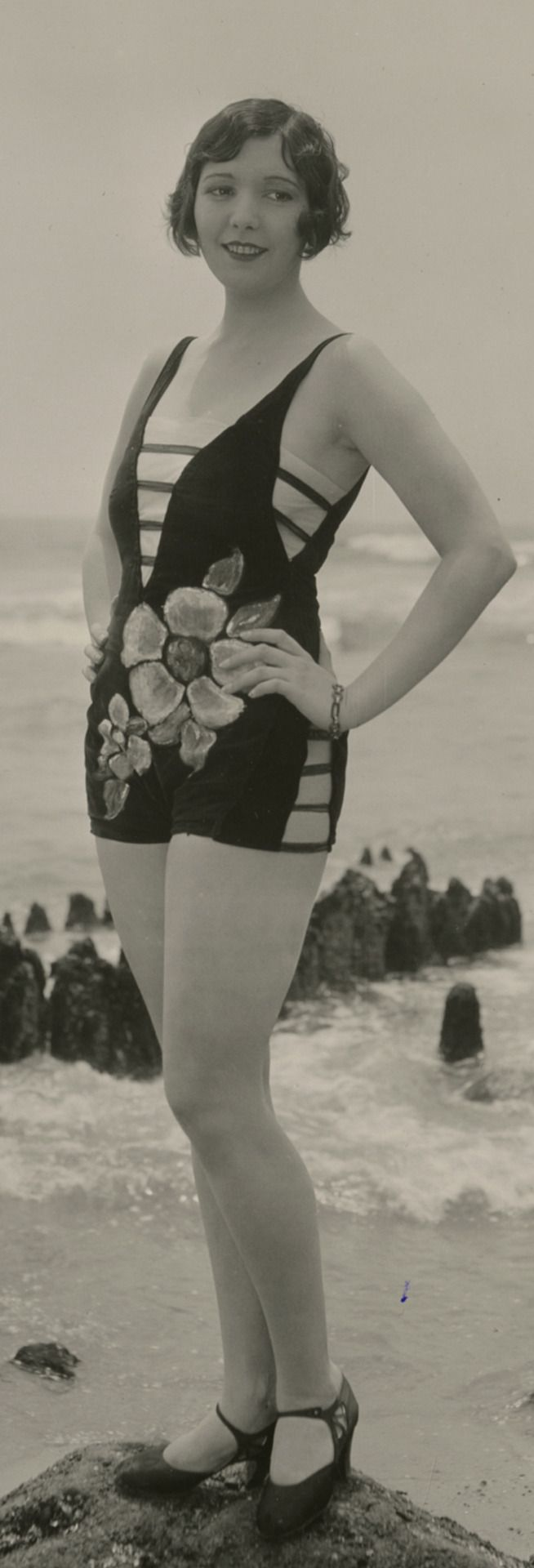1920s Exceedingly Risque' Bathing Suit..........Mack Sennett Beauty, Thelma Parr, by George Cannons