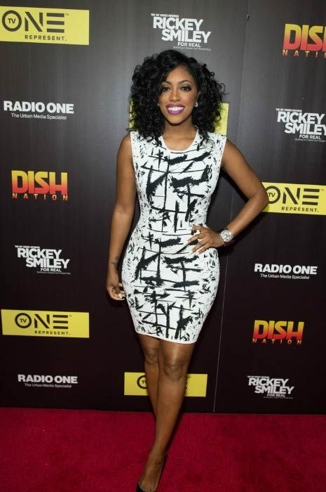 """Porsha Williams at the TV One's """"Rickey Smiley For Real"""" season 2 premiere in May 2016..."""