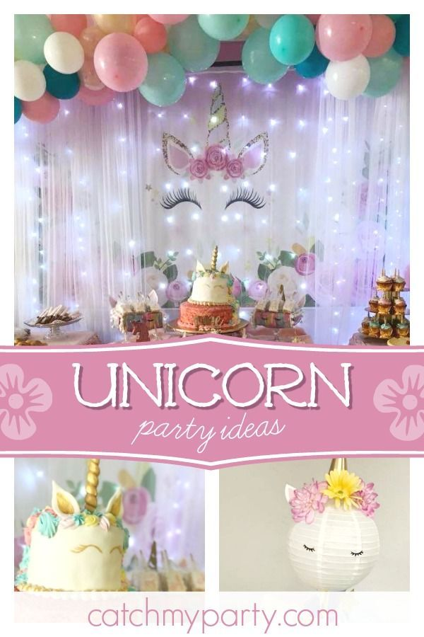 Unicorn Birthday Magical Unicorn Party Catch My Party Unicorn Party Unicorn Theme Party Unicorn Birthday