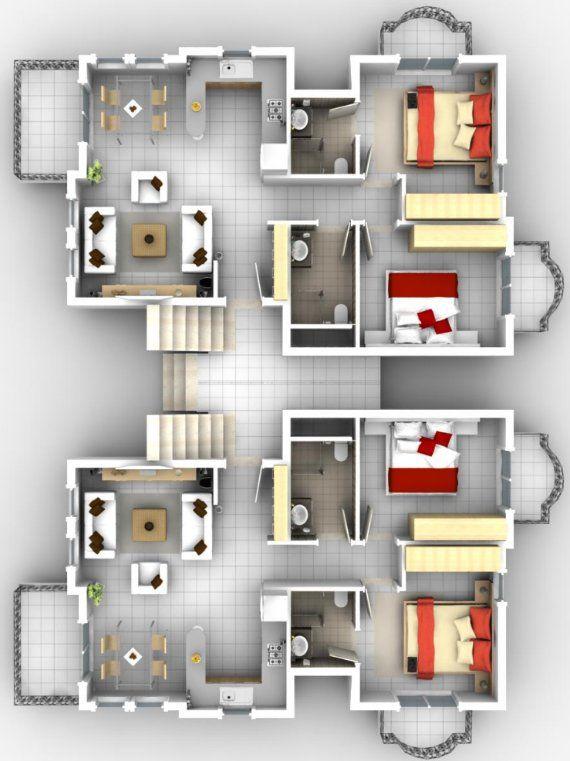 Baños Modernos Para Departamentos:Plano De Departamento Pequeno