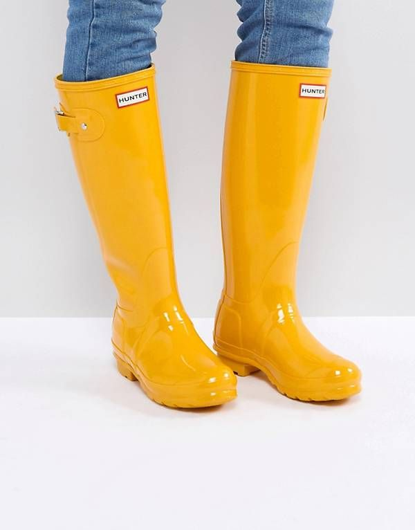 Hunter Original Tall Gloss Yellow