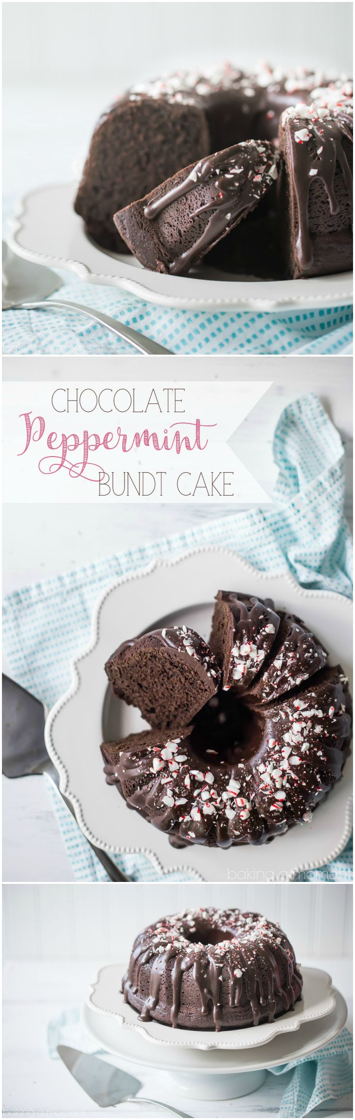 LOVED this cake! So moist and chocolate-y, with lots of cool mint. Perfect treat for the winter holidays!