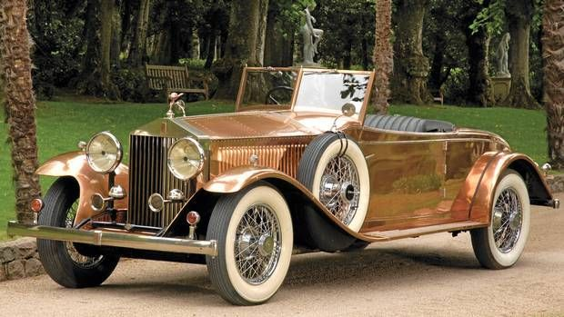 A shiningly beautiful (literally!) 1930 Rolls Royce Phantom II Roadster. #vintage #1930s #car