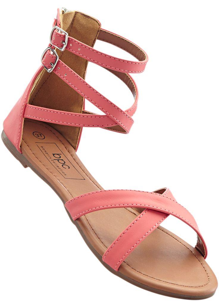 Sandale lachs - bpc bonprix collection jetzt im Online Shop von bonprix.de ab ? 15,99 bestellen. Modern und bequem, Reißverschluss.