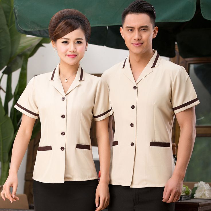 Hotel Summer Uniform Female Cleaning Clothes Short Sleeved Room Restaurant Property Floor Cleaner Clothing Work Clothes J067 #Affiliate