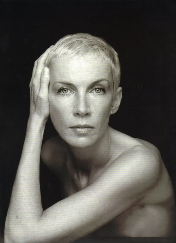 Annie Lennox (b 1954) Scottish singer songwriter, who has won 8 Brit awards.