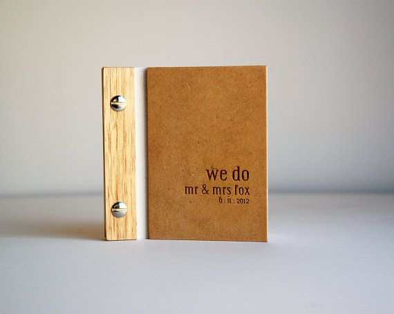 I totally want one of these but not for wedding vows    Wedding vows book // wood engraved by lorgieandme on Etsy, $15.00