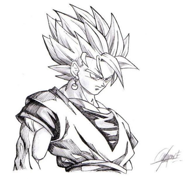Dibujos De Dragon Ball Z A Lapiz