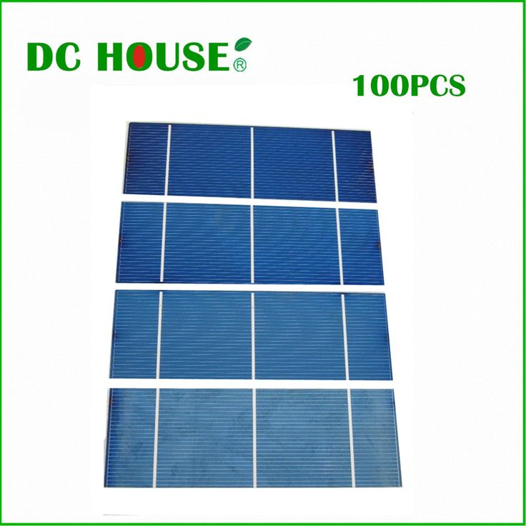 100 pcs 15% efficiency 2x6 Polycystalline Solar Cell 1.1w/pc DIY 100W Solar Cells Low Price Free Shipping  with CE Certificate #Affiliate