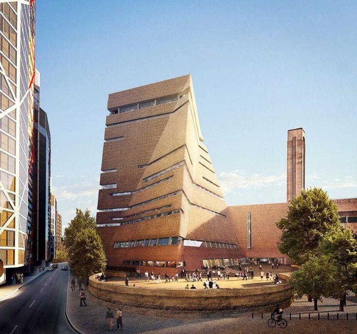 La ampliación del Tate Modern. Imagen © Hayes Davidson y Herzog & de Meuron