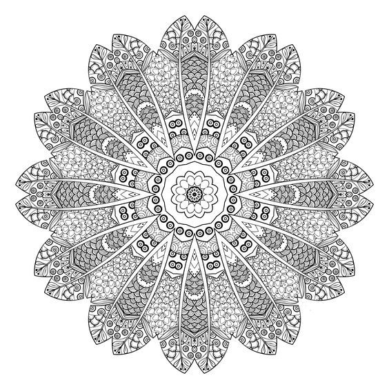 Color Yourself Calm With These 20 FREE Printable Mandala