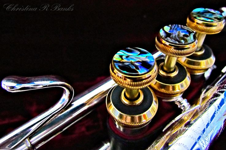 Bach Stradivarius Trumpet Silver with Gold Accents and Paua Shell Keys