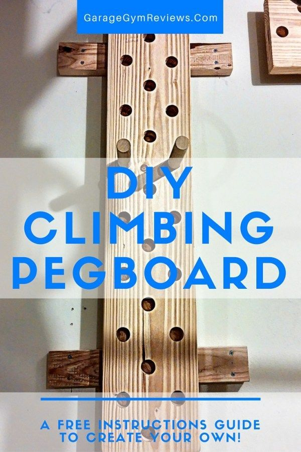 Diy climbing peg board garage gym reviews for the kids in