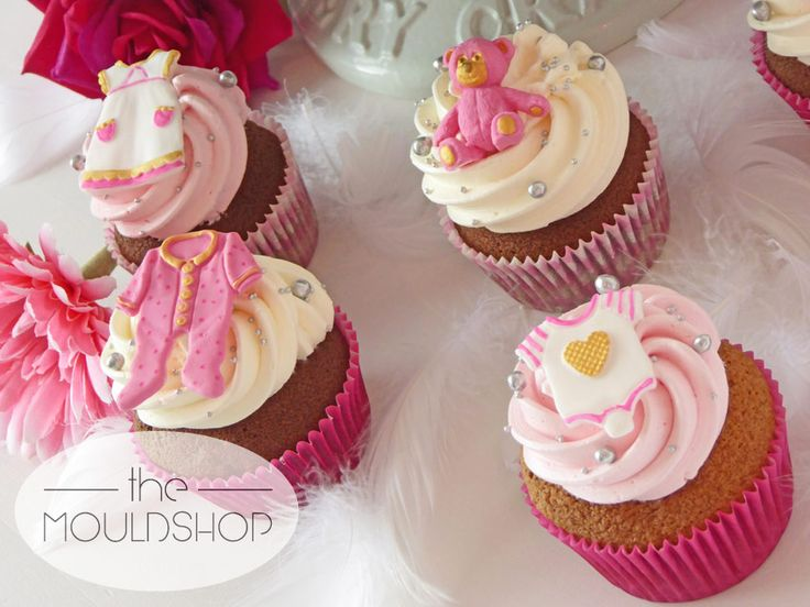 Fabulous pink cupcakes for a new arrival!