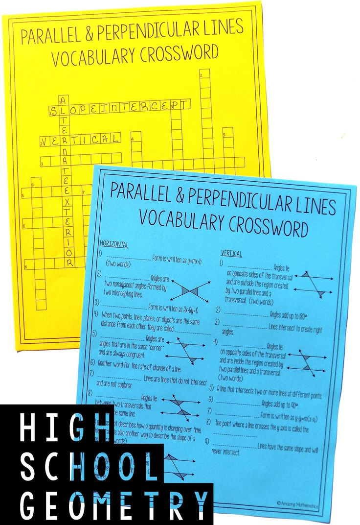 41 best parallel lines transversals images on pinterest geometry chapter 3 vocabulary crossword parallel and perpendicular lines robcynllc Choice Image