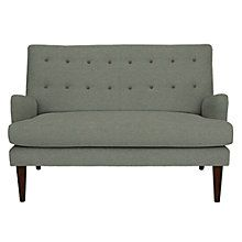 Buy John Lewis Gatsby Small Sofa, Quinn Blue Grey with Quinn Charcoal Piping Online at johnlewis.com