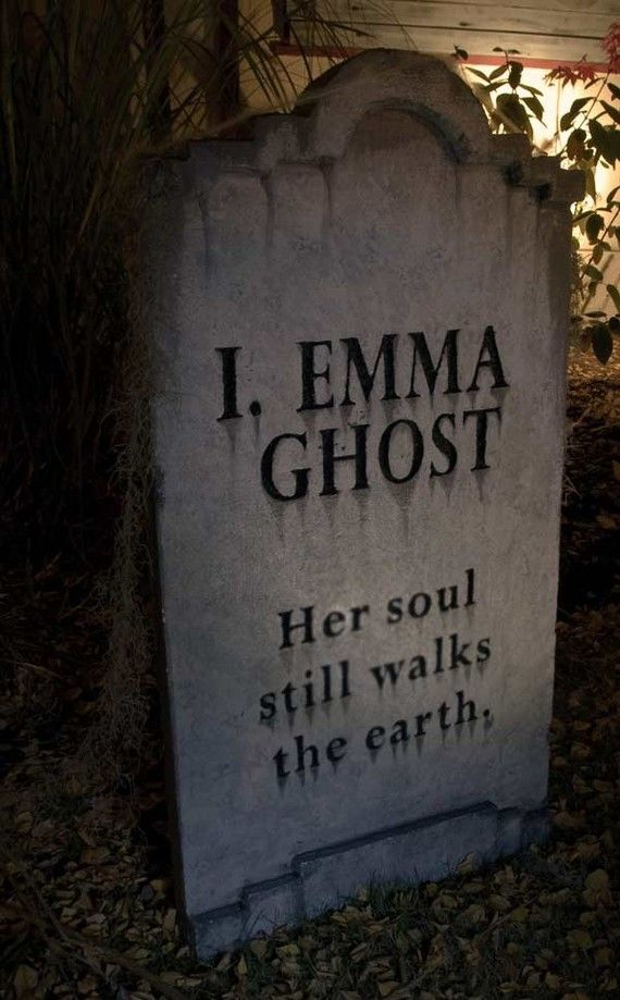 i emma ghost epitaph - Funny Halloween Tombstones