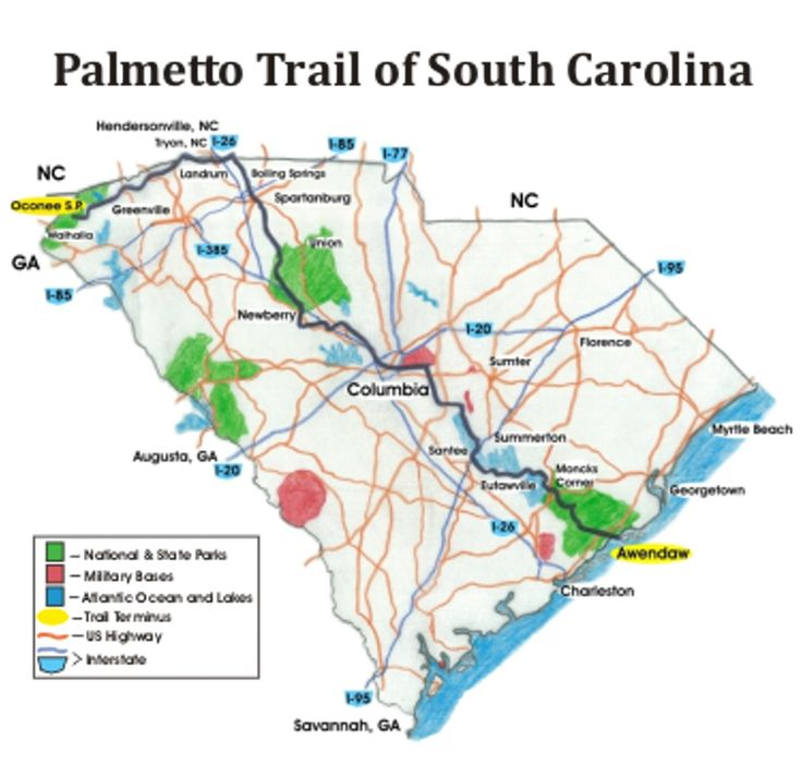 PT - Palmetto Trail - Thru-Hiker's Manual