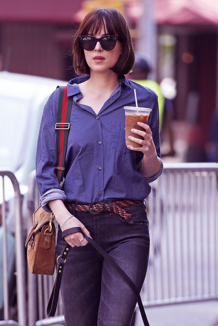Dakota Johnson & Zepp out for a walk in NY - 15 May 2015