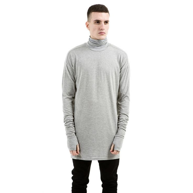 New Thumb Hole Cuffs Long Sleeve Turtleneck Solid Swag Tyga Style Man Hip Hop Top Tee T Shirt Men fitness men Clothes-in T-Shirts from Men's Clothing & Accessories on Aliexpress.com | Alibaba Group