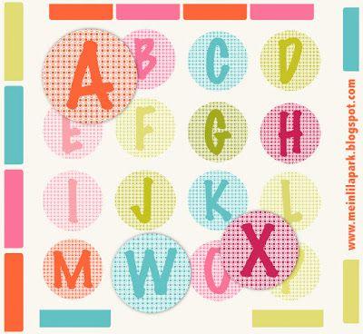 Free printable alphabet letters – ausdruckbare Buchstaben – DIY sticker – freebie | MeinLilaPark – DIY printables and downloads