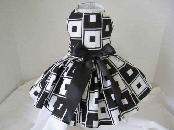 Items Similar To Dog Dress XS Black And White By Ninau0027s Couture Closet (  Special Collection Happy And Fun ) On Etsy