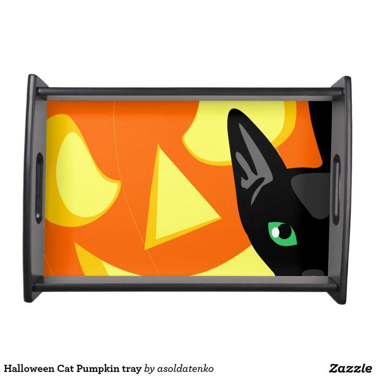 Halloween Cat Pumpkin tray Service Tray