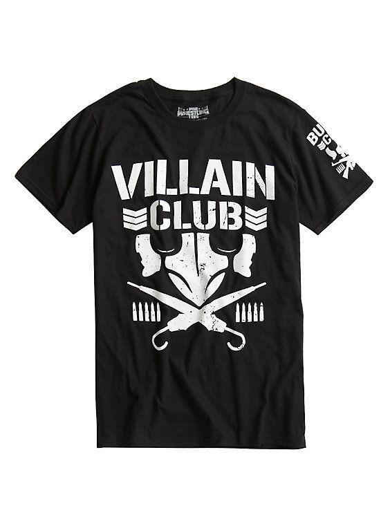 New Japan Pro-Wrestling Bullet Club Villain Club Logo T-Shirt, BLACK