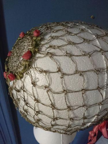 1920-S-fil-travail-Garconne-Casquette-Chapeau-ART-DECO-FASHION-True-Vintage