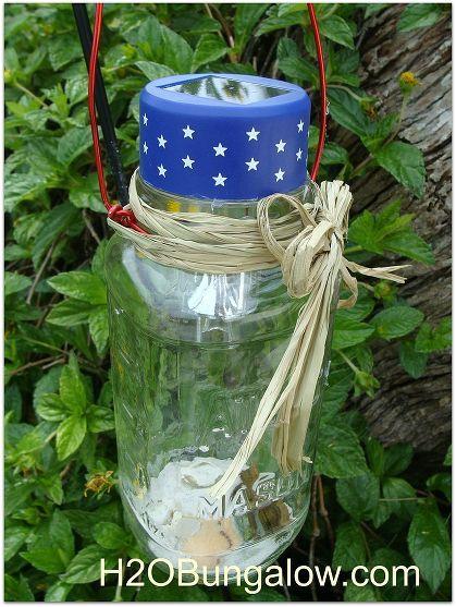 Patriotic Labor Day Lantern