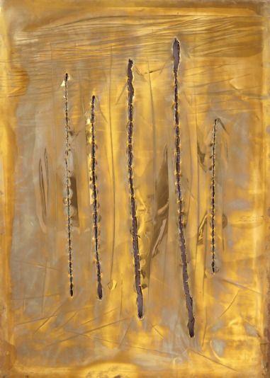 Lucio Fontana, Concetto spaziale, New York 7 (1962)