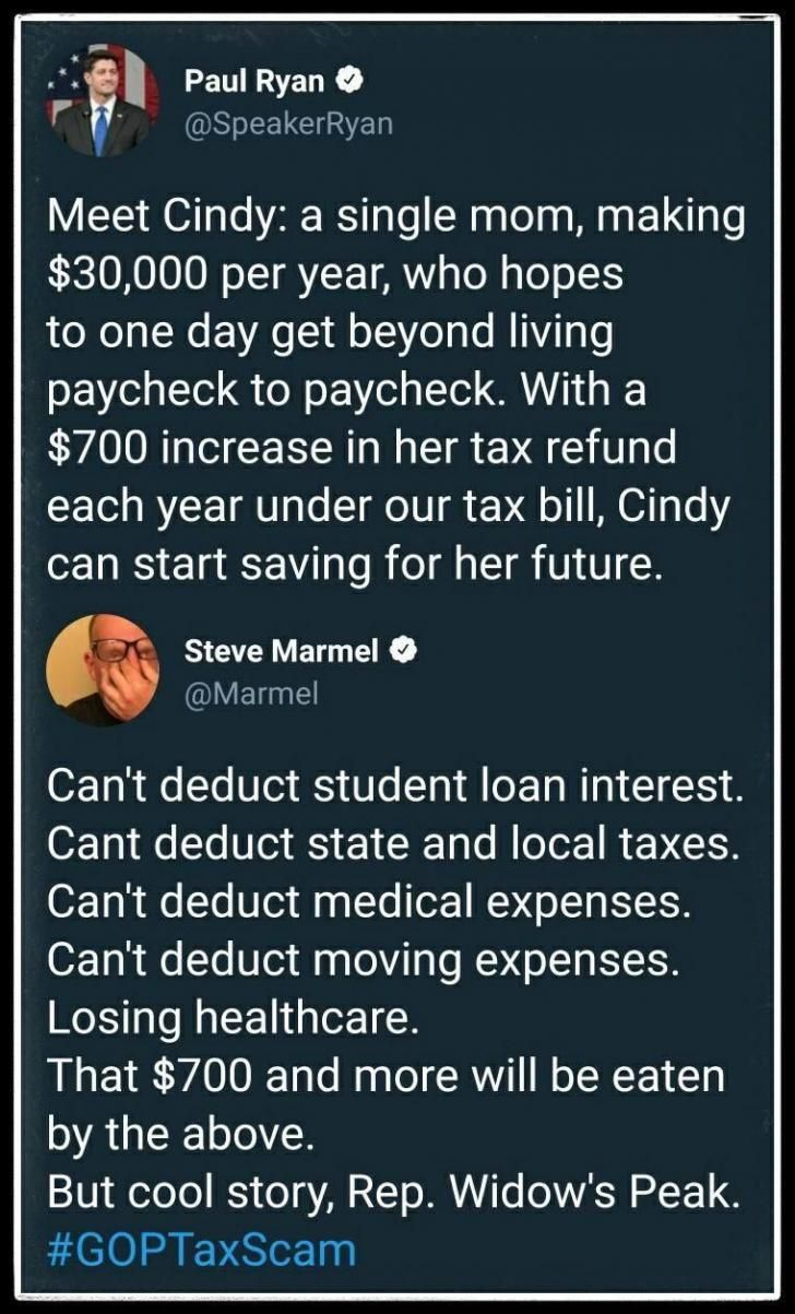 The GOP tax plan has only been endorsed by the GOP. No experts in finances, government, or anything else have honestly said that they believe the plan will work. It's just another lie