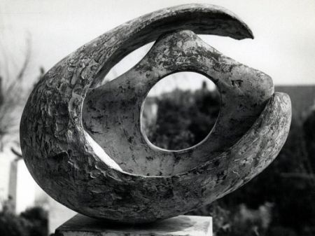Curved form with inner form (Anima) / Barbara Hepworth / 1959 / bronze