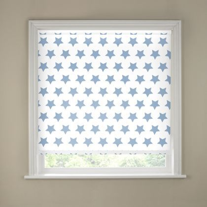 Sandown Amp Bourne Blue Amp White Star Blackout Blind 60cm