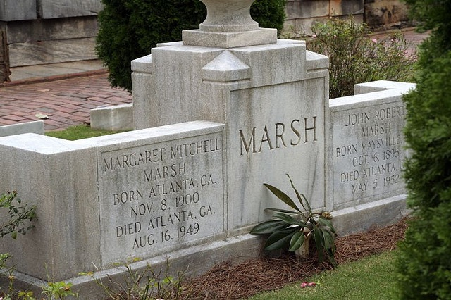 Margaret Mitchell Marsh's tomb. True story, my middle name is named for her.
