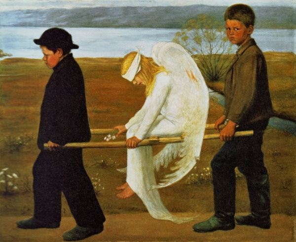 """""""The Wounded Angel"""" (1903) by Hugo Simberg"""